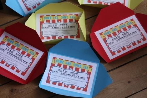 DIY invitation fête foraine blog requia faites comme moi