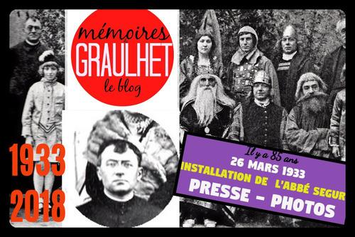 - 1933 - Abbé Ségur Curé de Graulhet