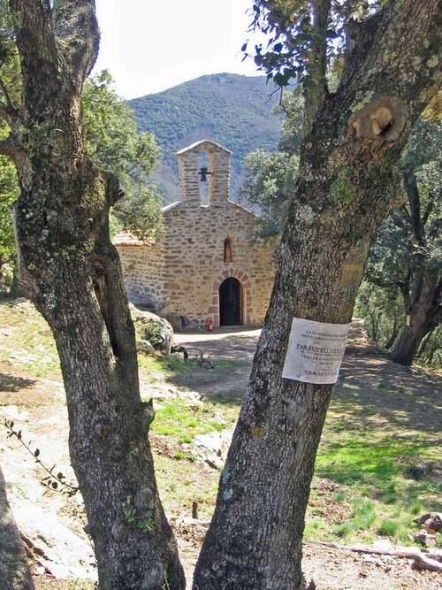 La Chapelle Santa Engracia (653 m) depuis Amélie-les-Bains