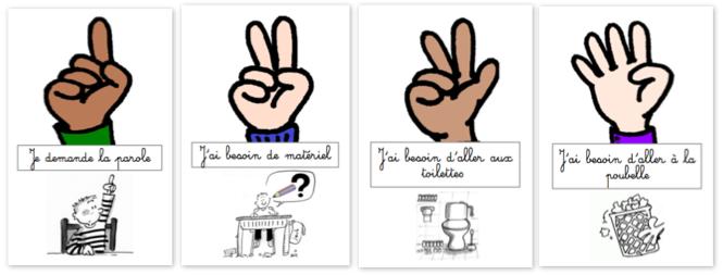 Idée Pinterest - le code doigts