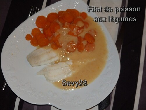 Filet de poisson blanc aux légumes (thermomix)