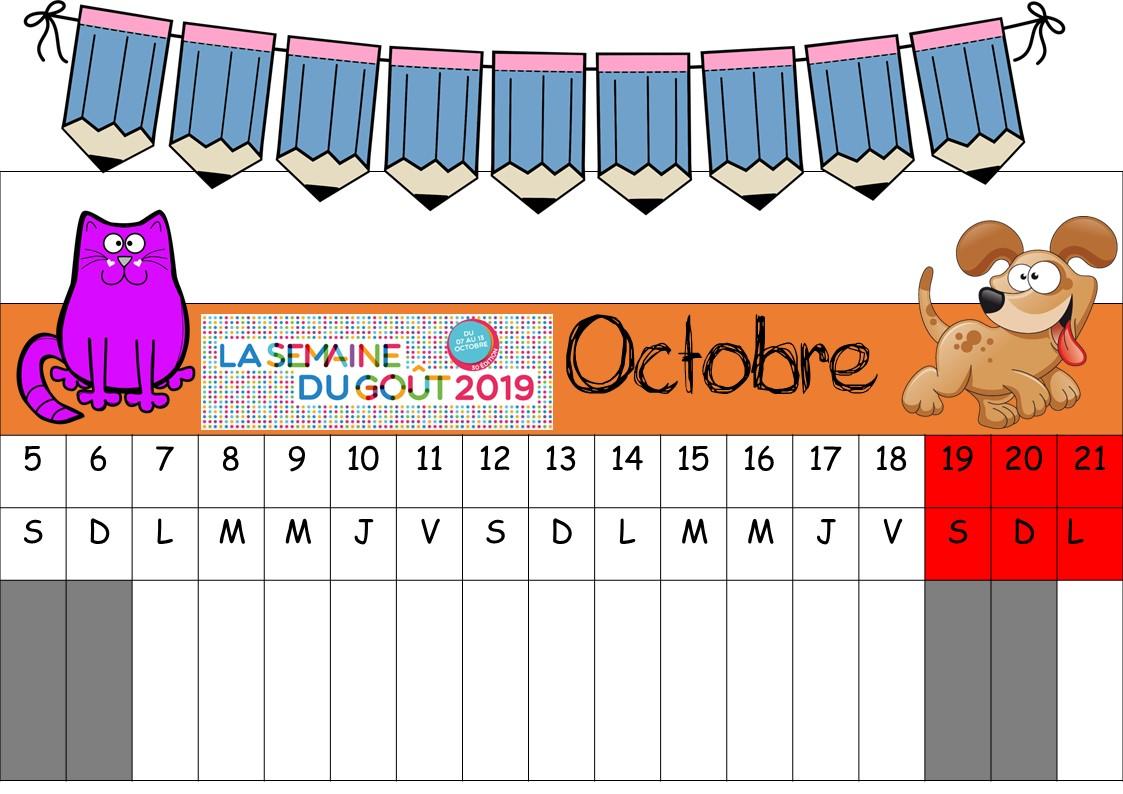 Lutin Bazar Calendrier 2020 2019.Poutre Du Temps 2019 2020 La Classe De Corinne