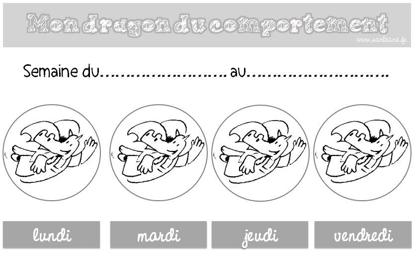 Le Dragon Du Comportement Le Petit Cartable De Sanleane