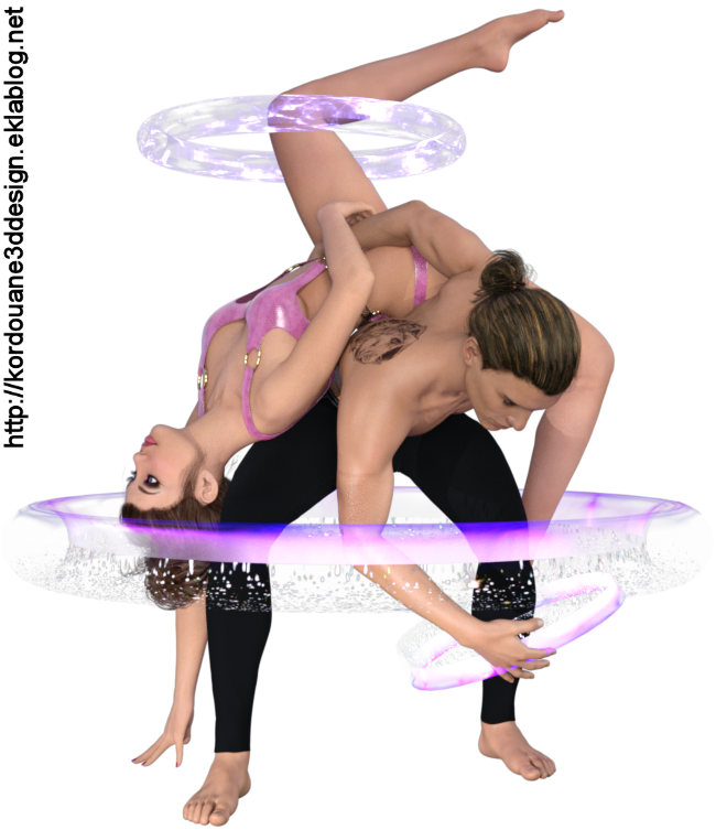 Tube couple danse moderne (render-image)