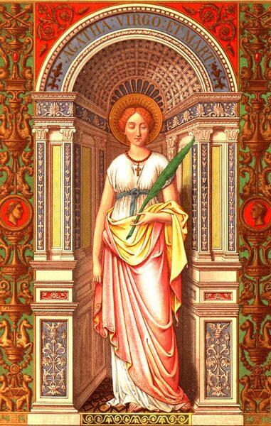 Sainte Agathe de Catane, Martyre en Sicile (+ 251)