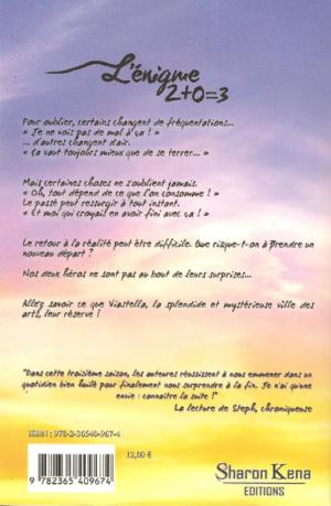 Chronique du roman {2+0=3 - L'énigme - Saison 3}