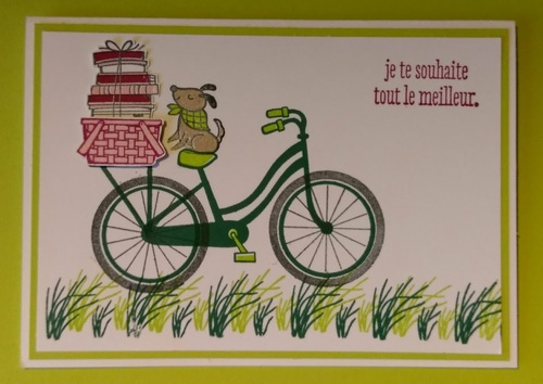 "avec le set de tampons ""Bike Ride"""