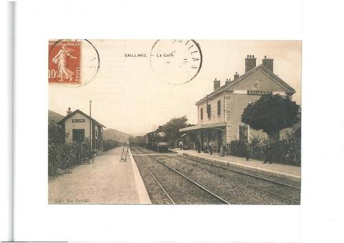 Gare de Saillans début XIXème siècle reproduction interdite