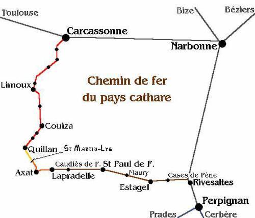 Carcassonne - Rivesaltes : Le chemin de fer du pays cathare