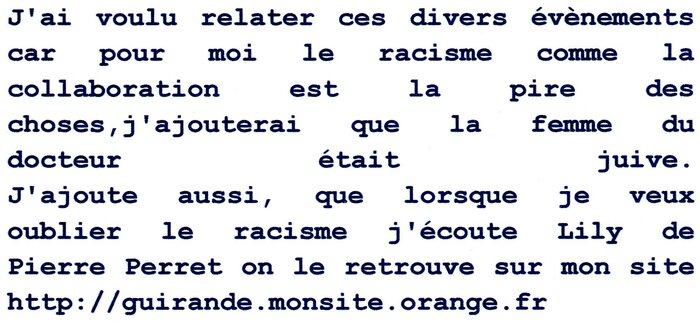 Contre le racisme, l'islamophobie, l'antisémitisme : un article et un témoignage en provenance du Web ou d'un Site ami