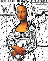 Art Projects for Kids: Make A Mona Lisa, FREE Download: