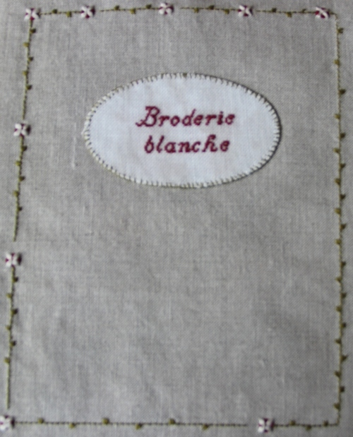 Cahier de broderie de Marie Suarez