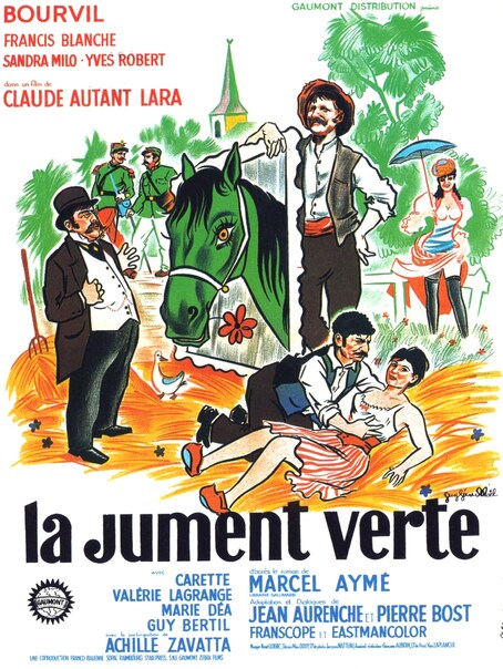 LA JUMENT VERTE - BOX OFFICE BOURVIL 1959