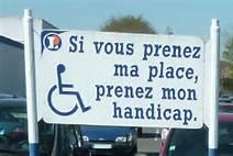 Même la ministre en charge de l'aide aux handicapés ne respecte pas les emplacement concernés.