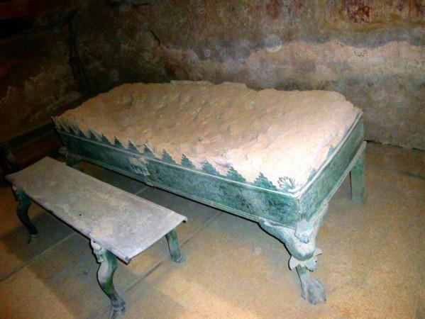 Pompei, thermes du Forum, mobilier du Tepidarium