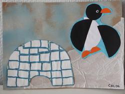 Production plastiques sur le thème des pingouins et de la neige