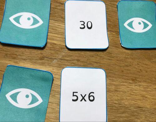 Mémory des tables de multiplication