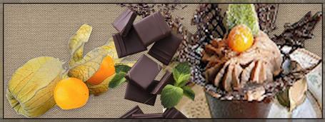 physalis frais au chocolat