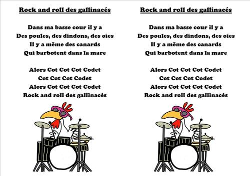 Le rock and roll des gallinacés
