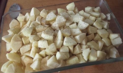 Crumble Pommes/Myrtilles tout simple {Vegan}
