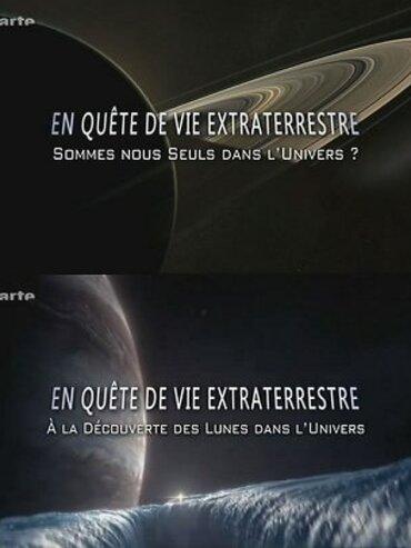 """En quete de vie extraterrestre (1-2) Sommes nous seuls dans l'univers  Tout autour du globe, de puissants télescopes repèrent chaque nuit jusqu'à 3 000 nouveaux astéroïdes. Certains se dirigent vers nous… Les dimensions d'un astéroïde – appelé """"météorite"""" quand il s'écrase sur notre globe – varient de quelques dizaines de mètres à plusieurs kilomètres. Les petits astéroïdes se comptent par millions et constituent la plus grande menace pour l'humanité. Ce film montre comment ces agrégats métalliques ou rocheux pourraient être à l'origine de la vie sur la terre, et comment ils pourraient aussi la détruire…  En quete de vie extraterrestre (2-2) A la découverte des lunes dans l'Univers  Grâce aux toutes dernières études, les scientifiques sont sur le point de répondre à l'une des plus grandes questions de l'histoire de l'humanité : sommes-nous seuls dans l'univers ? La science interplanétaire est en passe de vivre une révolution. Les chercheurs sont en train de découvrir des ingrédients indispensables à l'existence de la vie dans des lieux très éloignés de la Terre. Cela signifie-t-il que la vie peut prospérer dans des milieux plus extrêmes encore que tout ce que nous avions imaginé jusqu'ici ? Saurons bientôt si la vie existe ailleurs que sur Terre ? Tentant de répondre à cette question, le documentaire embarque le spectateur dans un voyage aussi passionnant qu'impressionnant à travers les espaces interstellaires."""