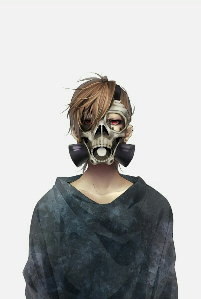 Image de anime, boy, and mask