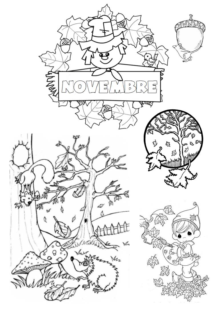 coloriage du mois de novembre a la grande cole. Black Bedroom Furniture Sets. Home Design Ideas