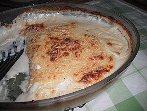Gratin de poireaux à la béchamel (Jambon...)