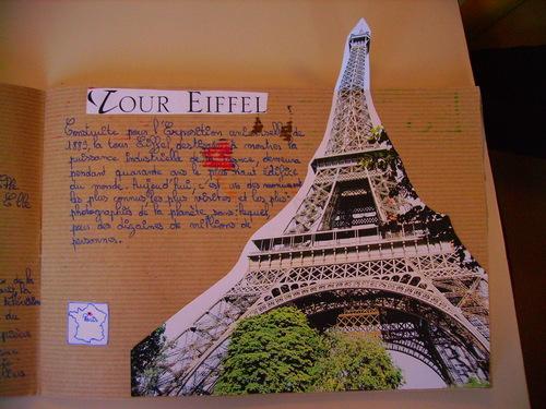 Carnets d'élèves sur Paris: la Tour Eiffel