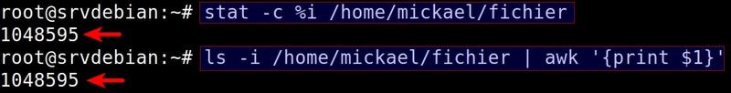 Script affichage date de création dossiers / fichiers sur système de fichiers ext4