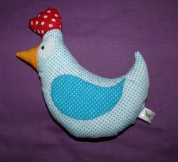 poulette tissu bleu