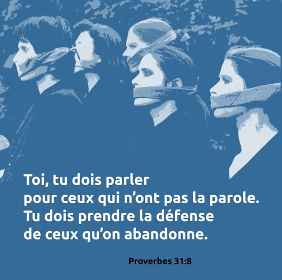 Proverbes 31: 8                                                       …: