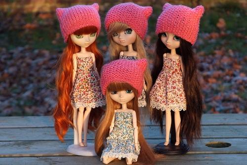 Pussy hat dolls