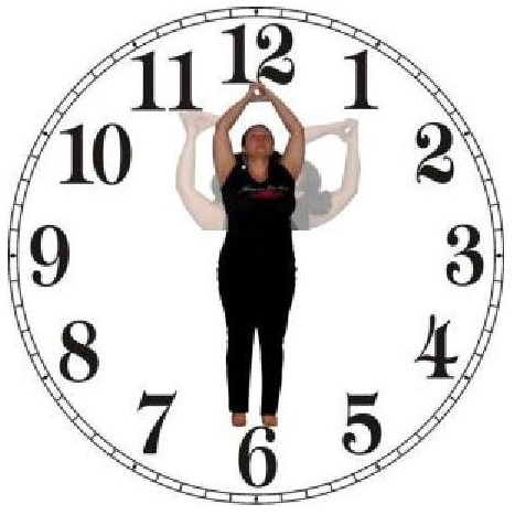 Yoga des yeux Horloge 'en pied'