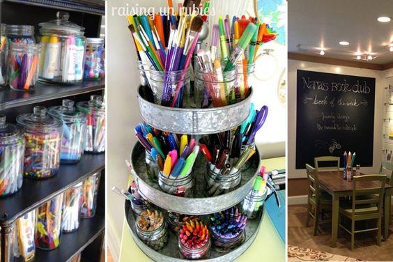 15 idées pour organiser un coin bricolages aux enfants!: