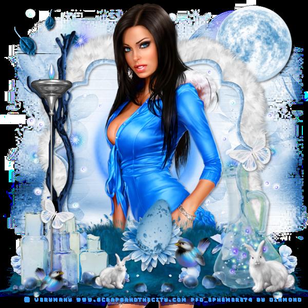 """Tutoriel """"Rhapsody In Blue"""" de Chtipette chez Delire2scrap"""