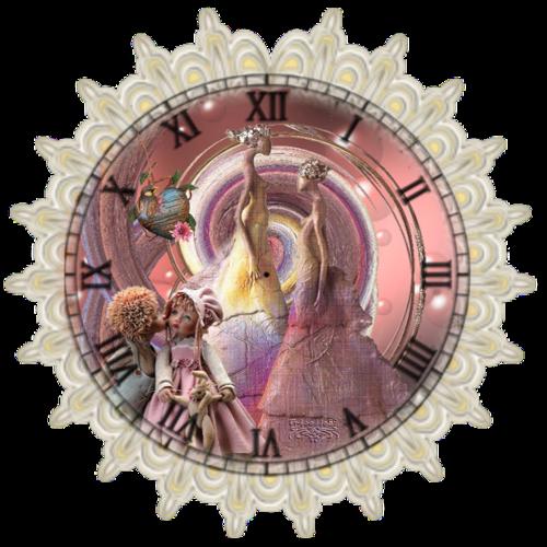 Horloge dentelle musicale