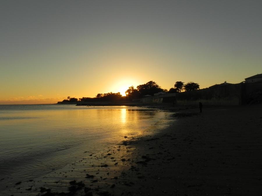 Coucher de soleil à Saint Vincent sur Jard dept 85