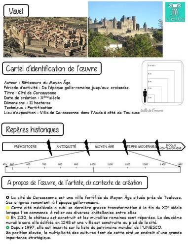 Dictée des arts : La Cité de Carcassonne