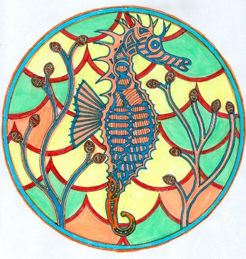 DOMANDALAS  mandala de l'hippocampe