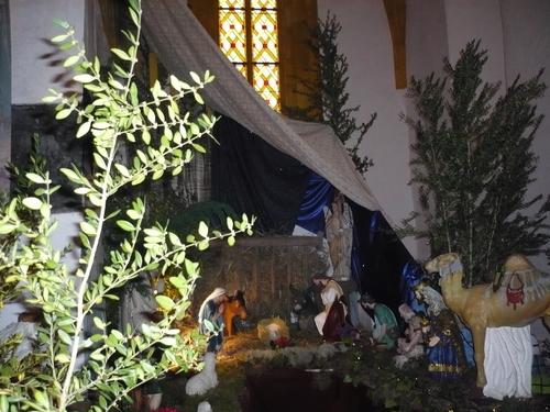 La crèche dans l'église de Catus