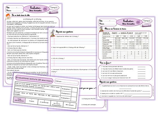 Evaluation Calendrier Ce1.Evaluations Francais Ce1 La Trousse De Sobelle