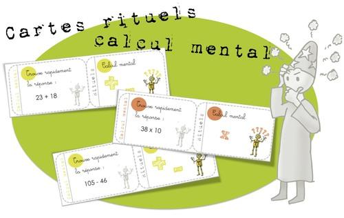 Des cartes rituels en calcul mental