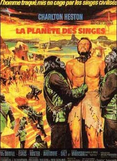 LA PLANETE DES SINGES AFFICHE FRANCE 1968