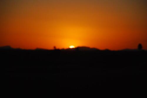 Coucher de soleil sur les dunes