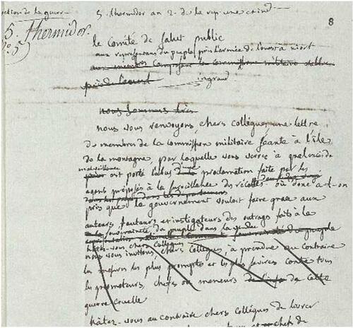 La lettre d'un héros de la république....