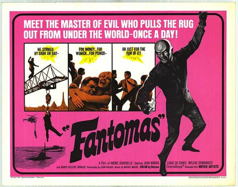 FANTOMAS - BOX OFFICE LOUIS DE FUNES 1964