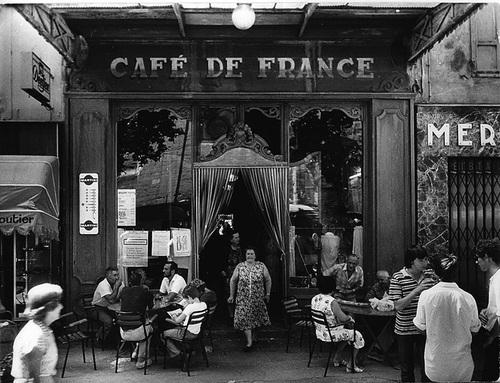 En visite au Café de France … la place juste.