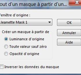 Masque jeannette