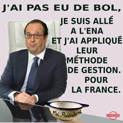 Hollande: pas de bol